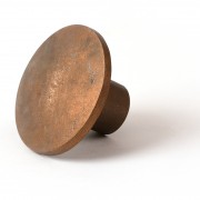 """3 1/4"""" Dome Brass Cap for 5/8"""" Rebar with Plastic Insert"""