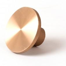 "3 1/4"" Flat Brass Cap for 5/8"" Rebar with Plastic Insert"