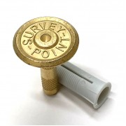 30mm Brass Marker - Survey Point