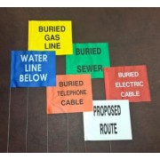 """Printed Marking Flags - 4"""" x 5"""" on 21"""" staff"""