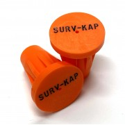"""Ribbed Rebar Cap for 1/2"""" rebar with 2 lines of 1/8"""" lettering"""
