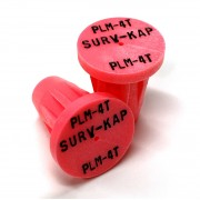 """Ribbed Rebar Cap for 1/2"""" rebar with 3 lines of 1/8"""" lettering"""