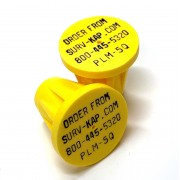 """Ribbed Rebar Cap for 5/8"""" rebar with 4 lines of 1/8"""" lettering"""
