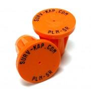 "Ribbed Rebar Cap for 5/8"" rebar with 1/8"" radial lettering"
