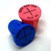 """Ribbed Rebar Cap for 3/4"""" rebar with 1/8"""" radial lettering and crosshair center mark"""