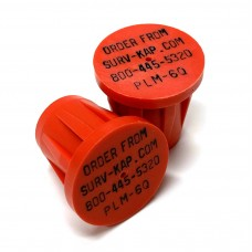 """Ribbed Rebar Cap for 3/4"""" rebar with 4 lines of 1/8"""" lettering"""