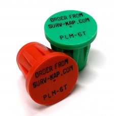 """Ribbed Rebar Cap for 3/4"""" rebar with 3 lines of 1/8"""" lettering"""
