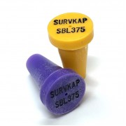 """Plastic Marker with recessed black letters for 3/8"""" Rebar or 1/2"""" pipe"""