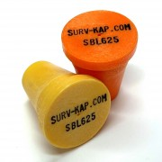 """Plastic Marker with recessed black letters for 5/8"""" Rebar or 1"""" Pipe"""