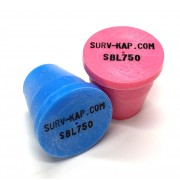 """Plastic Marker with recessed black letters for 3/4"""" Rebar"""