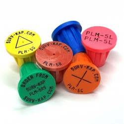 """Ribbed Plastic Survey Markers for 5/8"""" Rebar or 1"""" Pipe"""