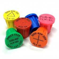 """Ribbed Plastic Survey Markers for 3/4"""" Rebar"""