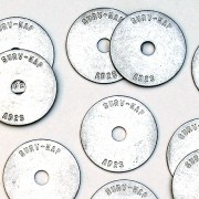 "Aluminum/Disc 1 1/2"" Dia. x 1/16"" Thick with 3/8"" Hole (Plain)"