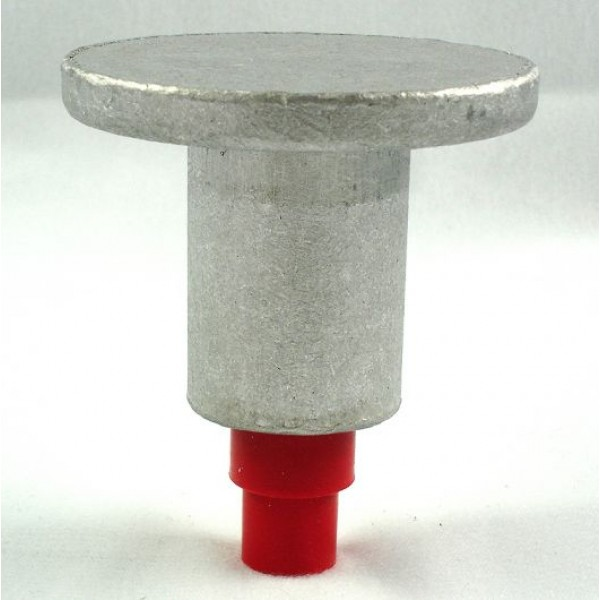 2 1 2 Quot Dome Top Aluminum Survey Marker For 1 2 Quot Rebar With