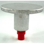 "3 1/4"" Flat Top for 1/2"" Rebar with Plastic Insert"