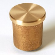 """1 1/2"""" Flat Brass Top for 1/2"""" Rebar Stamped with Plastic Insert"""