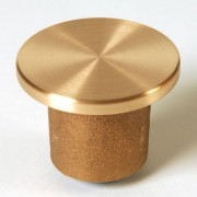 "2"" Flat Brass Top for 1/2"" Rebar Plain with Plastic Insert"