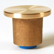 """2"""" Flat Brass Top for 1/2"""" Rebar Stamped with Plastic Insert"""