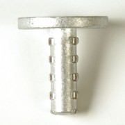 "2 7/8"" Dome Aluminum M/M/Cast Corrugated Stem"