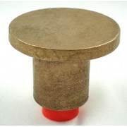 "2 1/2"" Dome Brass Top for 3/4"" Rebar with Plastic Insert"