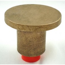 "2 1/2"" Flat Brass Top for 3/4"" Rebar with Plastic Insert"