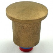"2"" Dome Brass Top for 5/8"" Rebar with Plastic Insert"