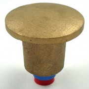 "2 1/2"" Flat Brass Top for 5/8"" Rebar with Plastic Insert"