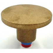 """3 1/4"""" Dome Brass Top for 5/8"""" Rebar with Plastic Insert"""