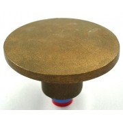 """3 1/2"""" Dome Brass Top for 5/8"""" Rebar with Plastic Insert"""
